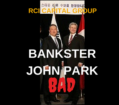 RCI Bankster John Park rejected for Harper government appointment